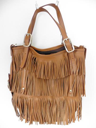 73e54970e2 Sac à frange cuir marron - TOD'S sur Label Emmaüs, boutique en ligne ...