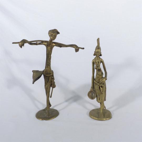 00940353d628 Lot de 2 statuettes africaines en Bronze sur Label Emmaüs, boutique ...