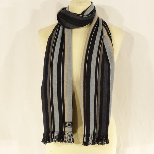 Écharpe grise à rayures en laine et coton sur Label Emmaüs, boutique ... 4f04f1a5b01