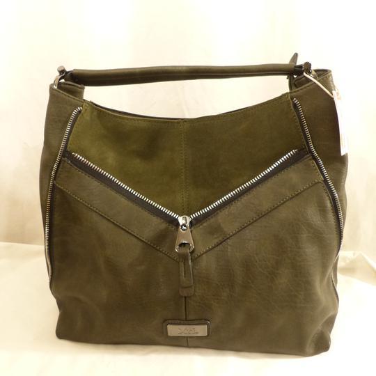 6db05fa243 Sac porté main et épaule XTI - Vert kaki sur Label Emmaüs, boutique ...