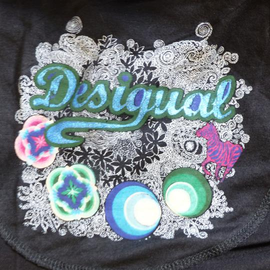 T-shirt multicolore DESIGUAL - Taille XS - Photo 3