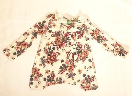 T-shirt fille fleuri sur Label Emmaüs, boutique en ligne solidaire 8a795bb2c66a