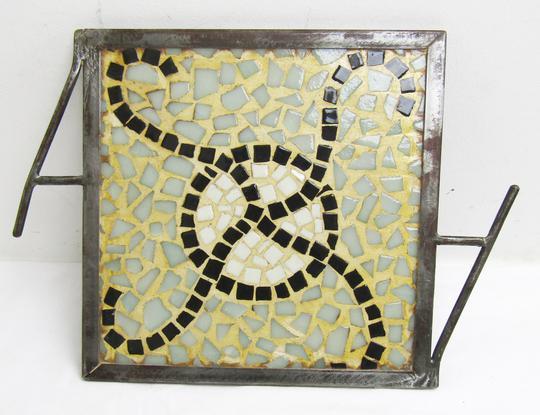 Plateau artisanal en mosaïque sur Label Emmaüs, boutique en ligne ... 9cd10a8768d