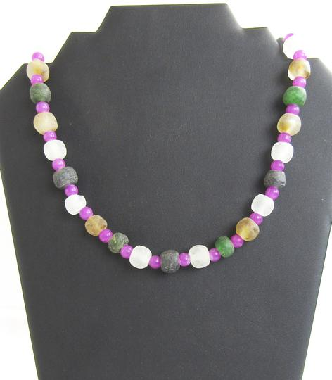 shades of hot products to buy Collier artisanal en perles de verres
