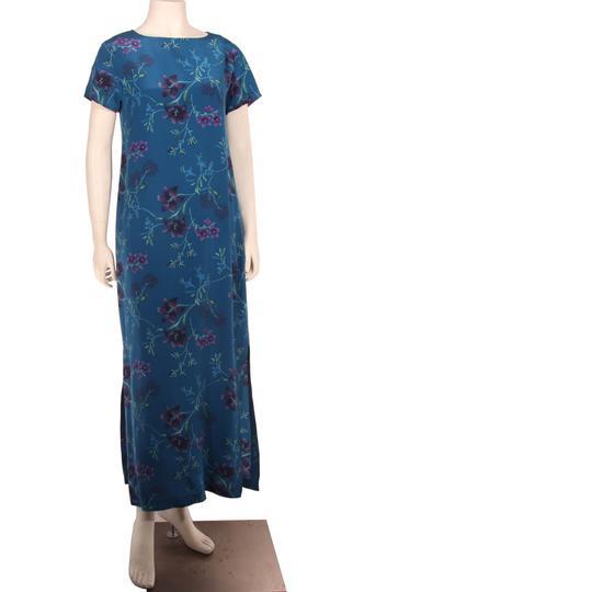 robe longue laura ashley en soie imprim floral t s sur label emma s boutique en ligne solidaire. Black Bedroom Furniture Sets. Home Design Ideas