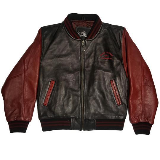 8834d53e3 Veste blouson Teddy Eagle Square en cuir bicolore pour ados 10 / 12 ans