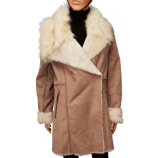 b17cb24f0553 Manteau Guess T L Veste façon peau retournée fourrure synthétique - Photo 0  ...