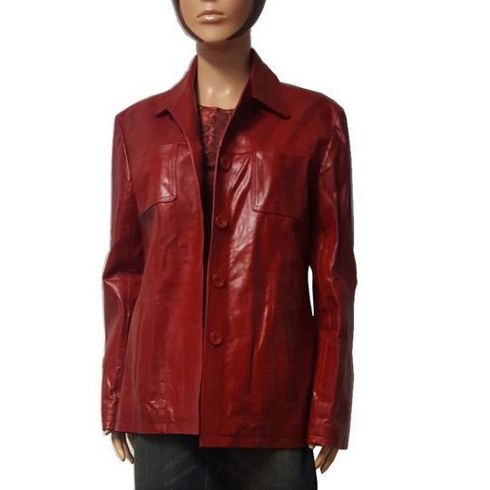 Veste Helston s en cuir rouge vintage pour femme T 42 sur Label ... 28c1ccea5ff6