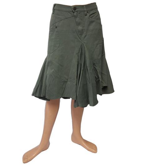 6c260c90ad7 Jupe Plein Sud Jeans déstructurée vert kaki T 38 sur Label Emmaüs ...