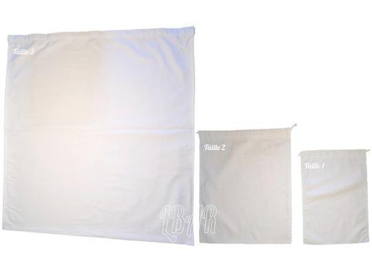283e5a22eb Trio de sacs a vrac tissu coton blanc sur Label Emmaüs, boutique en ...