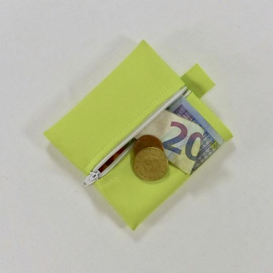 c3cd849e3f30 Porte-monnaie sky 100% recyclé, vert pomme sur Label Emmaüs, boutique en  ligne solidaire